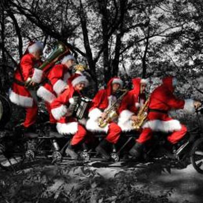 Kerstmannen Fiets Orkest