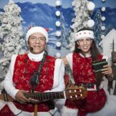 Zingende Kerstfiguren